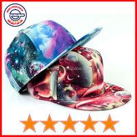 Beautiful starry sky printed flat brim snapback caps,galaxy stars printed flat bill caps,flat brim caps for girls(SU-HP25279)