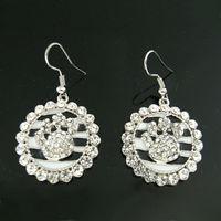 Wholesale Sports Jewelry Zebra Paw Print Rhinestone Dangle Earring