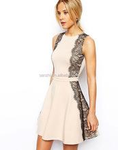 New Fashion Beautiful Prom Dress Sleeveless Eyelash Lace Long Dress Party Evening Dressing