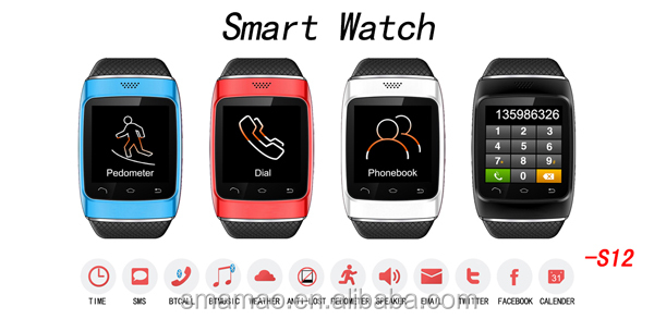 2014 cheap Bluetooth smart watch Fashion Touch Screen cell phone watch