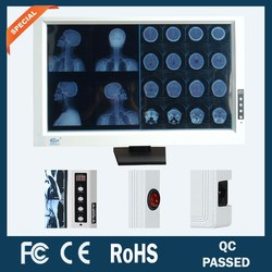 dual section hospitals and clinics brightness adjustable led x-ray film viewer/viewing box
