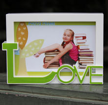 Hot sell baby kids plastic frame love photo frame/picture photo frame table