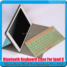 7 Color Backlit Light Bluetooth Keyboard Folio Case For iPad Air 2 for ipad 6 Cover