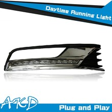 AKD Car Styling LED Drl for VW Passat B7 DRL 2012 Passat LED DRL Europe Daytime Running Light Good Quality LED Fog lamp