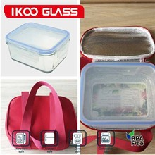 New arrival Microwave and oven safe glass fresh box with keep warm bag