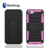 Generic for apple ipad iphone 6 6s 6G rugged hybrid belt clip holster hard case cover retail packaging pink silicone