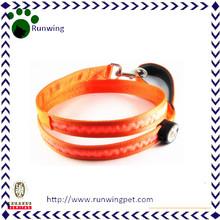 Orange Nylon Customized Dog Led Leash Led Pet Leash