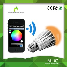 2015 new product bluetooth led bulb & light color changing with music ML-07