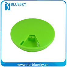 Round green hot selling pill cases/slide pill box