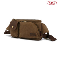 wholesale cool canvas waist bag for hiking,runing and riding