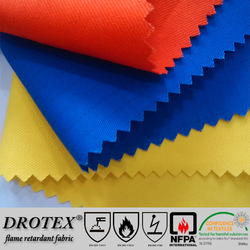 cotton twill multi-functional ESD anti-acid fire proof fabric for safety workwear