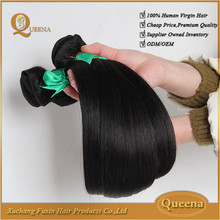 2015 best selling new arrival cheap unpprocessd 16 inches straight indian remy hair extensions