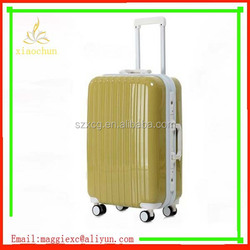 xc-6518 hard abs traolley luggage yellow luggage 28 inch