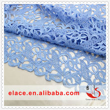 China supplier various colors woman garment accessories of water soluble chemical polyester lace fabric