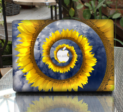 Custom Made Sunflower Pattern Top Sticker For Macbook Pro 13 Laptop Skin Sticker Decal With Wholesale Price