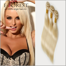 7A Russian Blonde Virgin Hair Weaves #613 Color Human Hair Weft Straight Blonde Remy Hair Extensions 12-24inch Wholesale