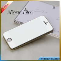 Factory price mirror screen protector for apple iphone 5S/5C mobile phone