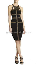 Over knee length conservative female cocktail party dress wholesale Price Evening Party Dress