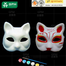 masquerade party green and white face model party masks Party&Event type masks