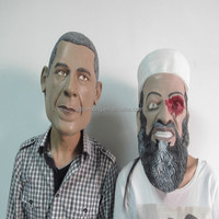 Custom realistic latex face masks/obama mask and Bin Laden mask