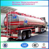 Oil Tanker Crude Oil Tank Semi Trailer Fuel/petroleum 45000l Steel Fuel Tanker Semi Trailer