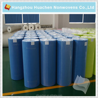 Factory direct selling cheap pu/pvc synthetic leather nonwoven fabric from China