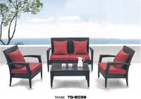 Muebles Best Selling Garden Furniture PE Rattan Garden Treasures Sofa with Table Antique Leisure Furniture