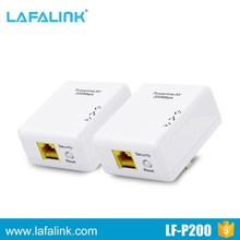 200Mbps RJ45 Interface Wall Plug Wireless Powerline Network
