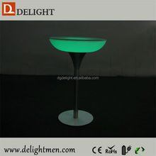 Plastic battery power night club lighting illuminated led table/ led tv table/ led plastic table with cooler