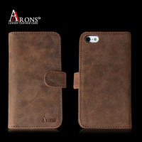 Classics style genuine leather with card slots for iphone case cover