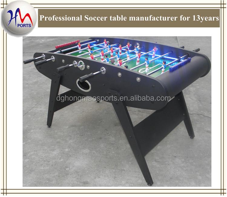 personnalis standard football jeu de table avec led table football babyfoot table tables baby. Black Bedroom Furniture Sets. Home Design Ideas