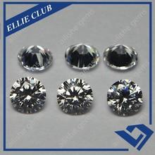 Right angel cut round diamond 6.mm white cz 1ct synthetic diamond
