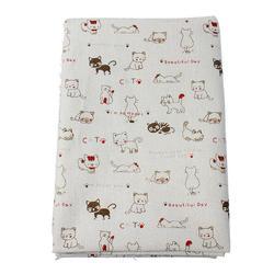 "Cotton & Linen Fabric Multicolor Message & Cats Pattern Sewing DIY Cloth 150.0cm(59"") x 100.0cm(39 3/8"") , 1 M"