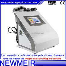 5in1 newmeir skin lifiing weight loss rf cavitation vacuum on promotion cavitation rf machine