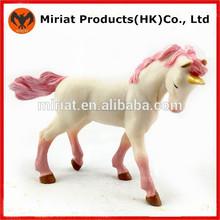 de alta tecnología de dibujos animados de plástico de los animales juguetes caballo para las niñas
