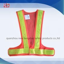 orange polyester mesh LED reflective pvc safety vest