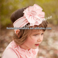Top Baby Stretchy & Elastic Newborn Fabric Flower Headband Children Kids Headwear