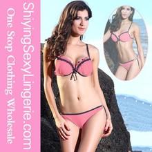 Sexy Lady Pink bikini unique design bikini unique design with double string