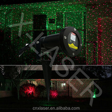 Wholesale stainless Red&Green romantic moving star garden light for outdoor lawn, tree decor, beautiful Christmas tree light