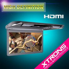 """13.3"""" 1080P Video HD Digital TFT Monitor Wide Screen Ultra-thin Car Roof Player with HDMI Port"""