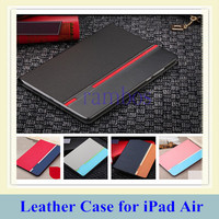Luxury Book Flip Leather Case Tablets Accessories Fashion Smart Stand Cover for iPad Air/5