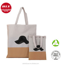 OEM cotton tote bag with custom printed logo for shopping wholesale