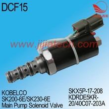 Main Pump Solenoid Valve of KAWASAKI SK200-3 Excavator, SKX5P-17-208