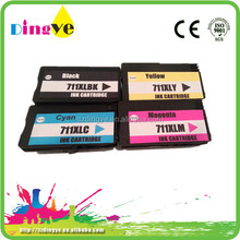 factory price remanufactured printers ink cartridge for hp 711