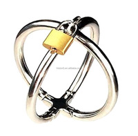 Crazy Distinctive Triad Chamber Cock And Ball Ring Penis Ring Bondage Cock Ring With Lock For Male Orgasm