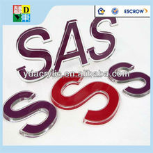 Good selling POP acrylic alphabet letter/custom design acrylic letter sign China manufacturer low price