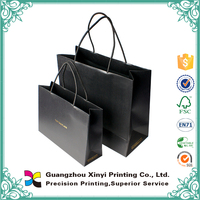 customized black cardpaper bag for clothes