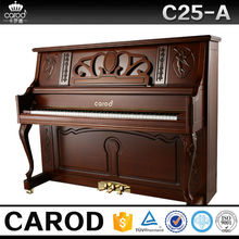 antique musical instrument teak wood console piano