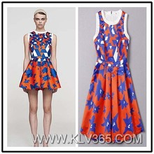 Designer One Piece Party Dress Lady's New Fashion Dress Short Summer Dress China Online shopping