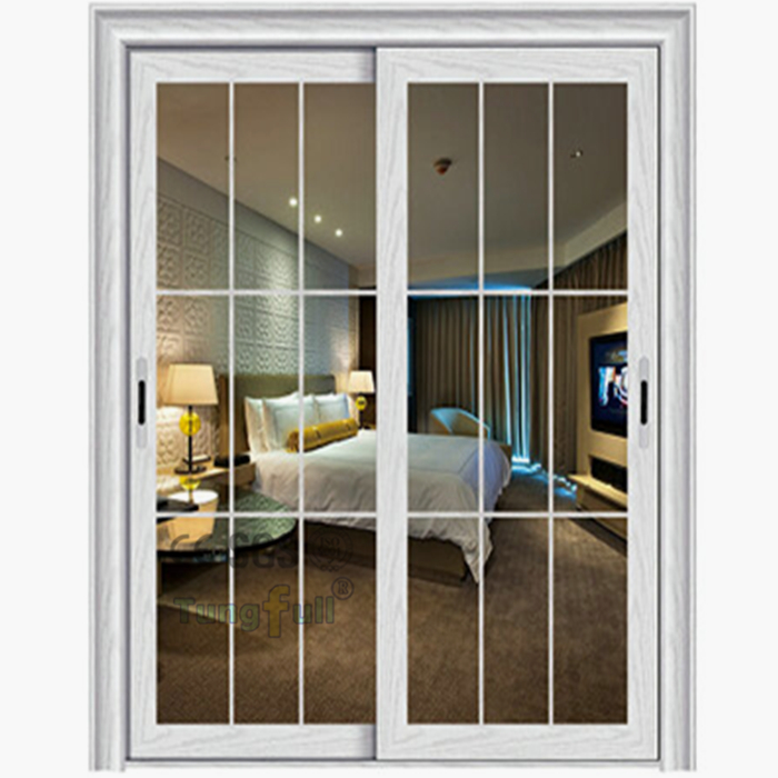 Aluminum frame glass sliding door heavy duty sliding doors for Aluminum sliding glass doors price